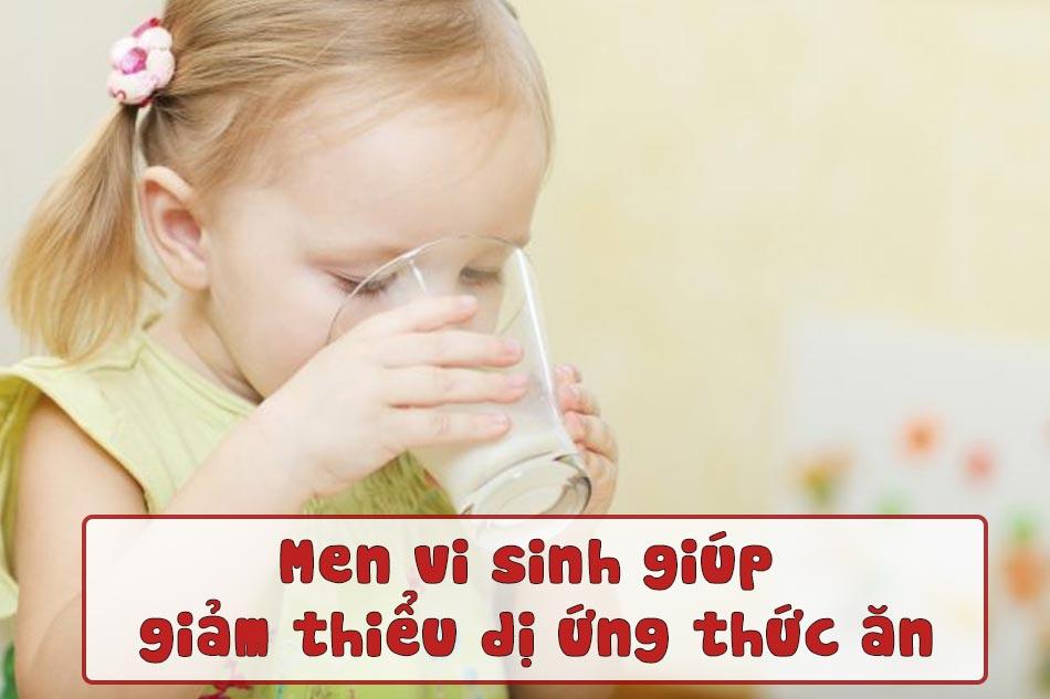 Men vi sinh làm giảm thiểu dị ứng thức ăn